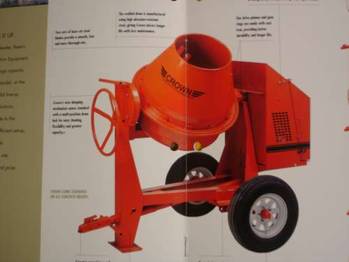 Concrete Mixer, Gas (9 cf)
