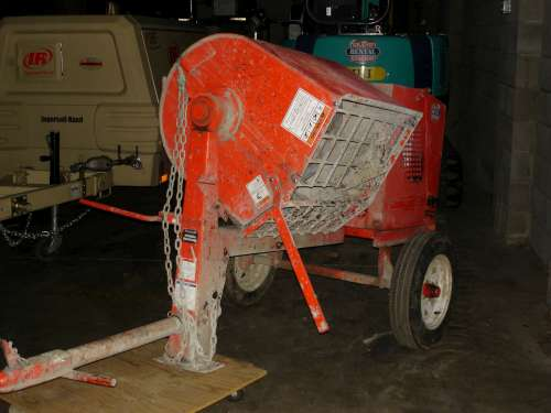 Concrete Mortar Mixer, Gas (6 cf)