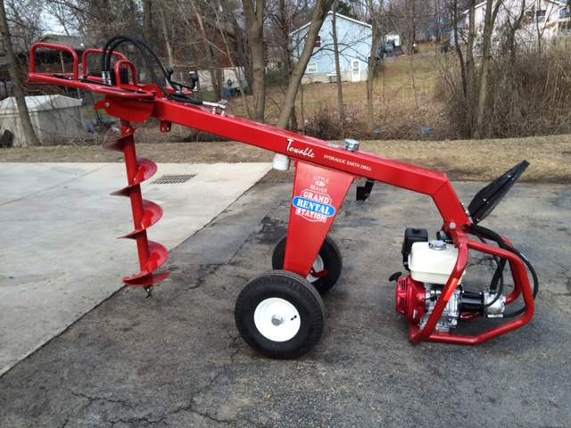 Auger, Hydraulic, 1 man, towable – Equipment Rental in